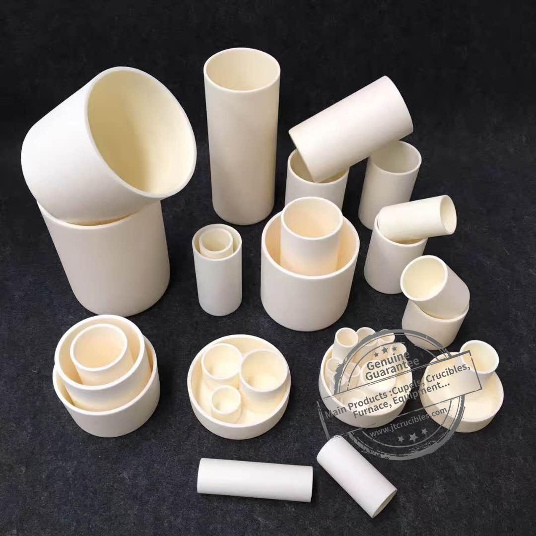 Various Size Alumina Material Cylindrical Crucibles