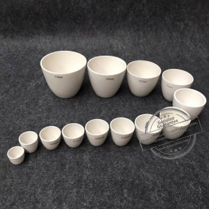 Various Size Alumina Material Cylindrical Crucibles with Lid