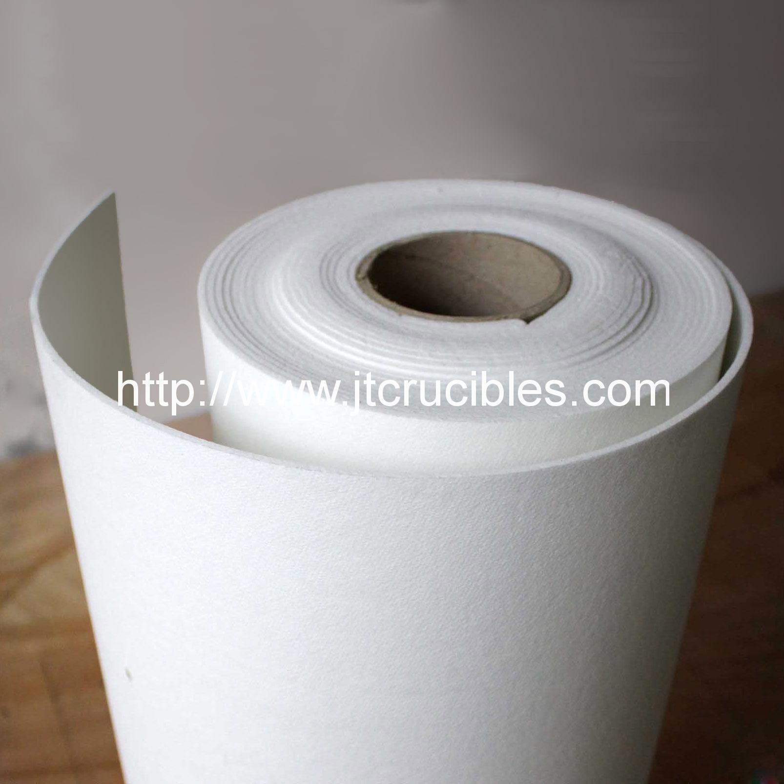 Aluminum silicate ceramic fiber paper