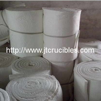 High temperature refractory ceramic fiber blanket
