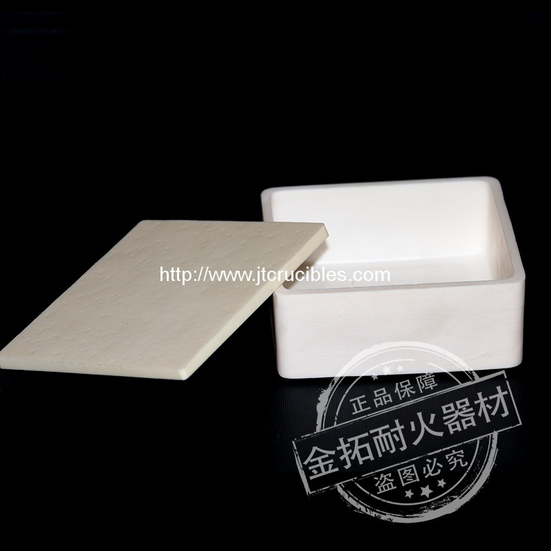 High temperature resistance alumina crucibles 100x100mm with lids