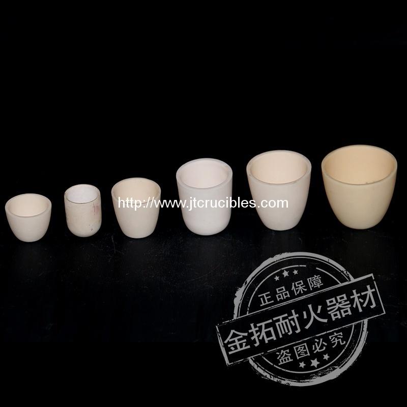 high temperature resistant alumina ceramic crucibles for laboratory