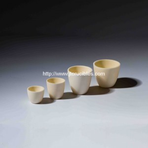 high refractory alumina ceramic crucibles for laboratory test