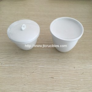 laboratory use porcelain crucibles with lids