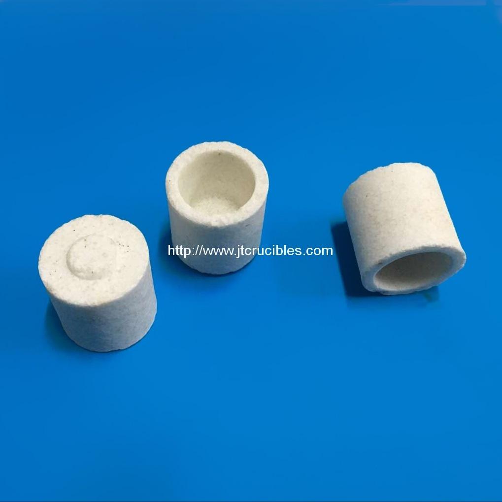 Alumina ceramic crucible 528-018 for carbon sulfur analysis