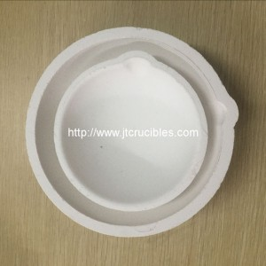 2kg Capacity High purity SiO2 Ceramic crucibles for gold silver brass melting